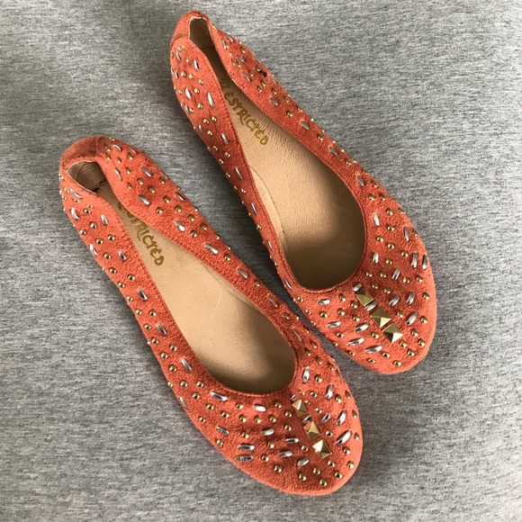 Restricted Shoes - Orange embellished flats